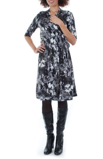 Everly Grey Mila Wrap Maternity/nursing Dress, White