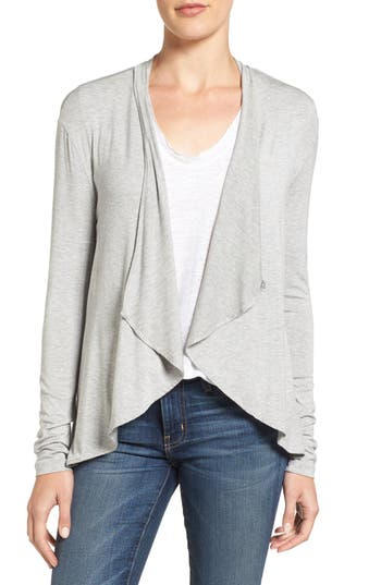 Amour Vert Michaela Stretch Modal Cardigan, Grey