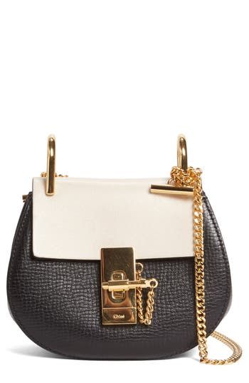 Chloé Nano Drew Calfskin Shoulder Bag - Black