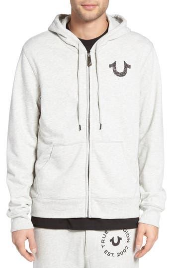 True Religion Brand Jeans Zip Hoodie, Grey