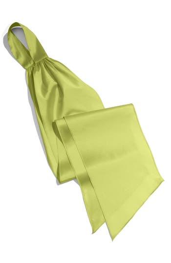 Girl's Us Angels Silky Taffeta Sash, Size 2-4 T - Lime