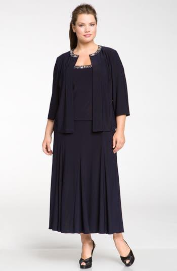 Plus Size Alex Evenings Beaded Dress & Jacket