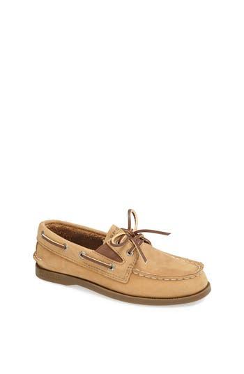 Boys Sperry Kids Authentic Original Boat Shoe Size 35 M  Brown