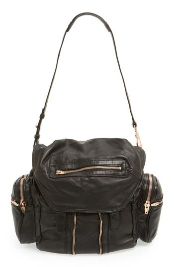 Alexander Wang 'Marti - Rose Gold' Leather Backpack - Black at NORDSTROM.com