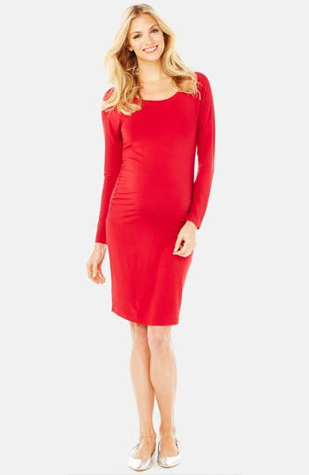 Rosie Pope Maternity Sheath Dress, Red