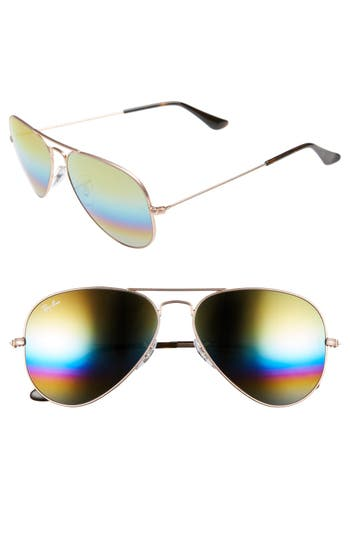 Ray-Ban 5m Aviator Sunglasses - Metallic Lght Bronze/ Mirror