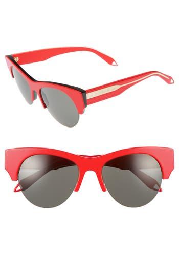 Victoria Beckham 5m Retro Sunglasses - Red/ Metallic Dark Rose/ Grey