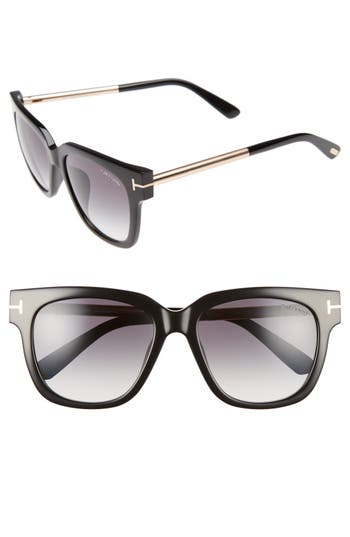 Tom Ford Tracy 5m Retro Sunglasses - Shiny Black/ Gradient Smoke