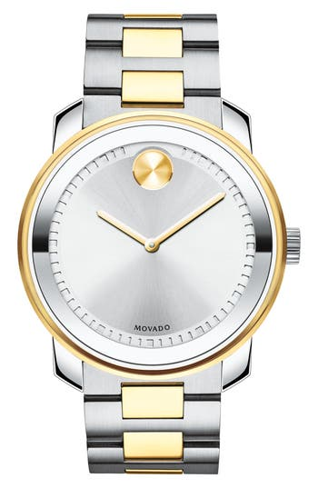 Movado Two Tone Bracelet Watch, 43mm
