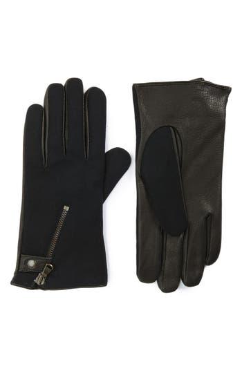 John Varvatos Star Usa Wool Blend Zip Gloves