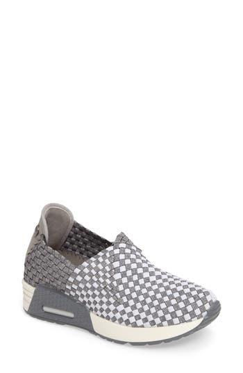 Bernie Mev. Best Gem Woven Elastic Sneaker, White