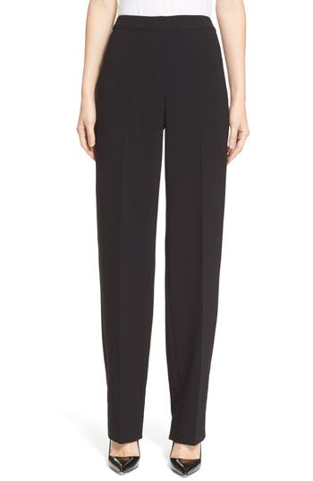 St. John Collection Diana Straight Leg Crepe Marocain Pants