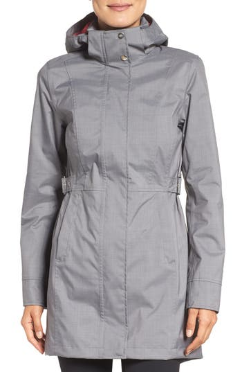 Women's The North Face Laney Ii Trench Raincoat, Size X-Small - Grey