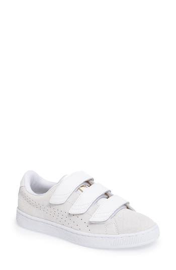 Puma Basket Strap Exoticskin Sneaker, White