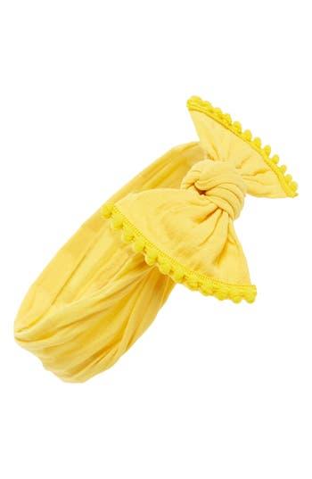 Baby Bling Pompom Trim Headband, Size One Size - Yellow