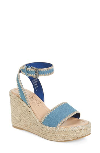 Coconuts By Matisse Frenchie Wedge Sandal, Blue