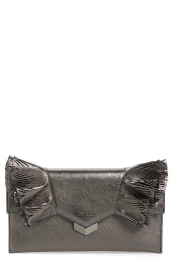 Jimmy Choo Isabella Metallic Leather Clutch -