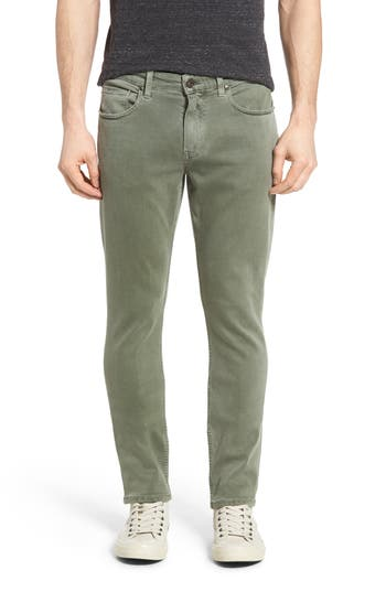 Big & Tall Paige Transcend - Lennox Slim Fit Jeans, Green