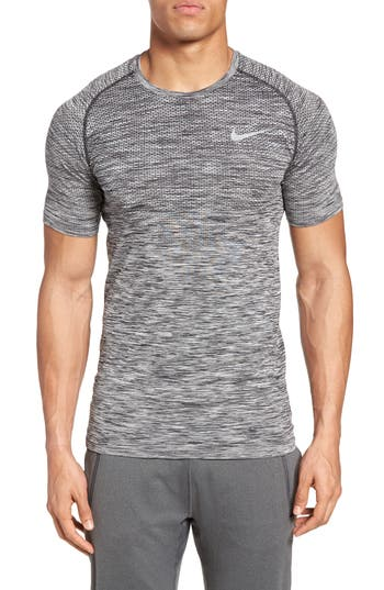 Nike Men Dry Knit Running T-Shirt, Black