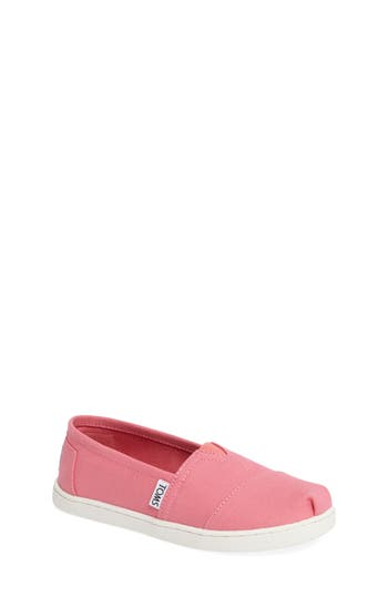 Toddler Girl's Toms Classic Print Slip-On, Size 5 M - Pink -  889556211609