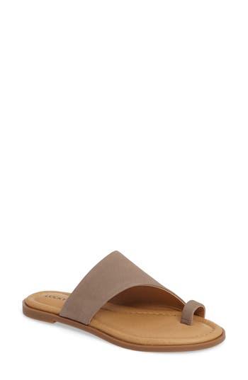 Lucky Brand Anora Toe-Loop Sandal- Brown