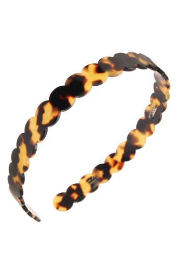 FRANCE LUXE | France Luxe Scallop Headband,One Size - Brown | Goxip