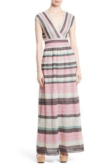 M Missoni Lace Stripe Maxi Dress