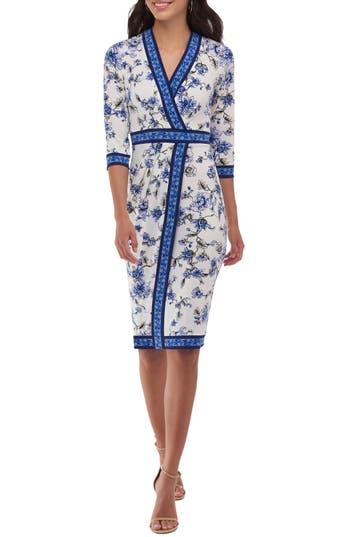 Women's Eci Floral Faux Wrap Dress