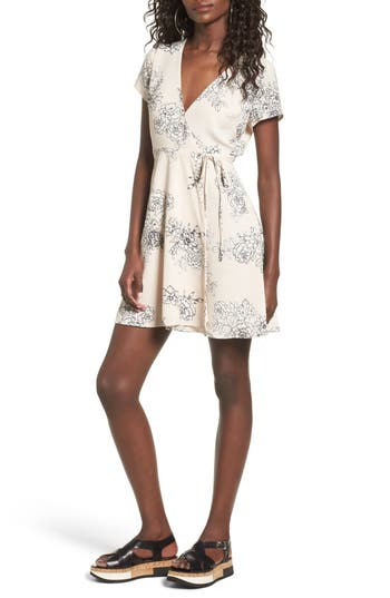 Lush Olivia Wrap Dress, Beige