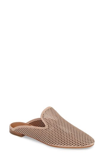 Frye Gwen Perforated Mule, Beige