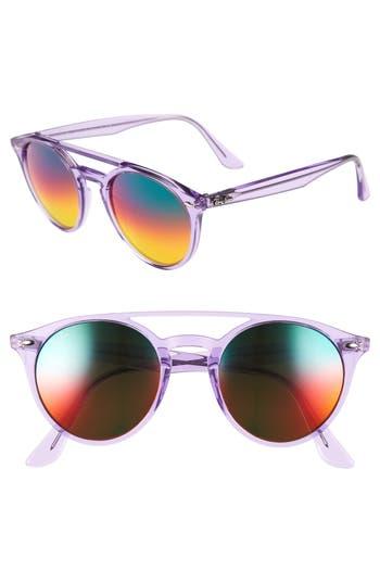 Ray-Ban 51Mm Mirrored Rainbow Sunglasses - Violet Rainbow