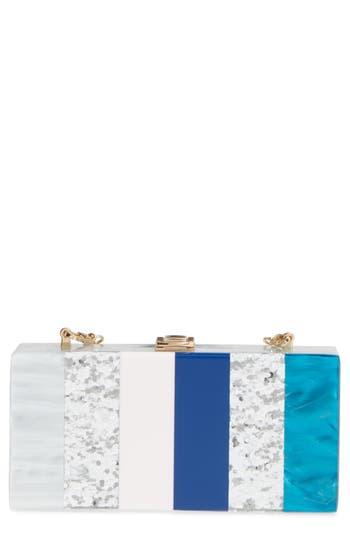 Milly Stripe Box Clutch -