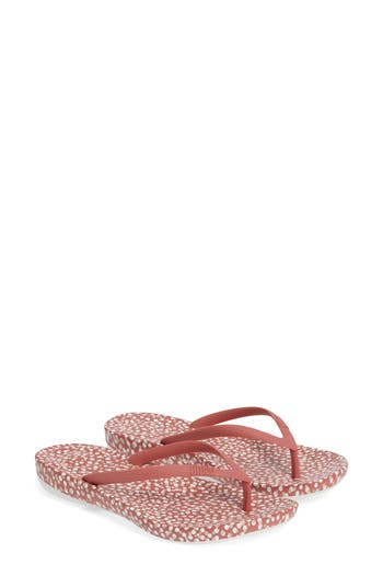 Fitflop Iqushion(TM) Ergonomic Flip Flop, Red