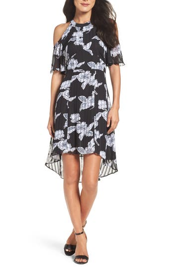 Julia Jordan Print Cold Shoulder Dress