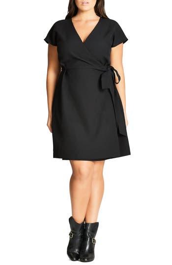 Plus Size Women's City Chic Wrap Dress