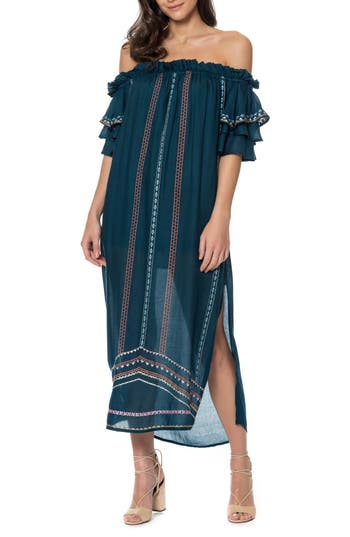 Red Carter Covo Cover-Up Dress, Blue/green