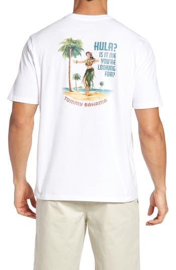 Big & Tall Tommy Bahama Hula Its Me Graphic T-Shirt, White