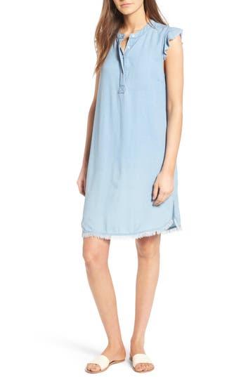 Splendid Chambray Shift Dress, Blue