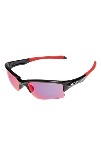 Oakley Quarter Jacket Prizm(TM) 61Mm Semi-Rimless Sunglasses - Black/ Prizm