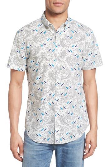 Men's Bonobos Slim Fit Surf Print Short Sleeve Sport Shirt