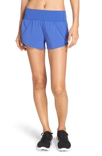 Zella Runaround Compact Shorts, Blue