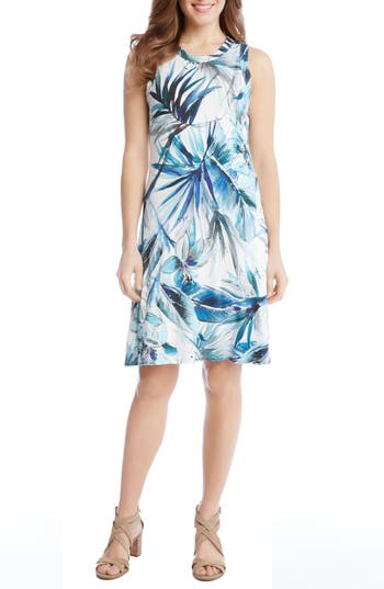 Women's Karen Kane Tropical Print A-Line Dress
