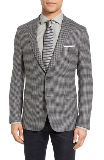 Men's Boss Roan Trim Fit Houndstooth Wool Blend Sport Coat