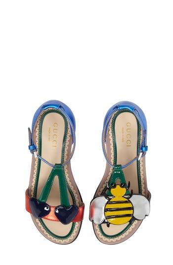 Girl's Gucci Bee Cerise Sandal