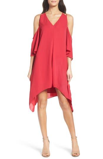Adelyn Rae Fiona Cold Shoulder Shift Dress, Pink