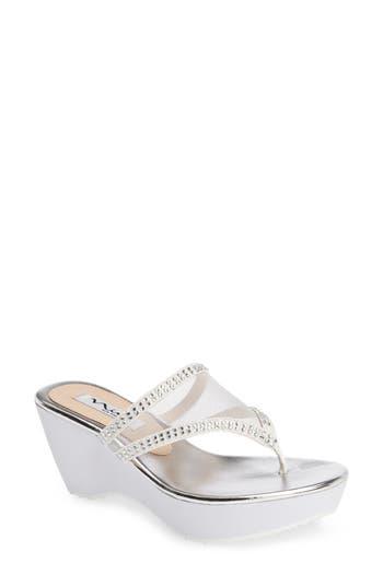 Nina Dalyne Thong Sandal- White