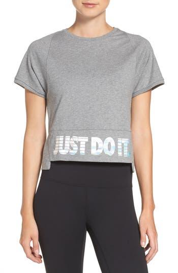 Nike Sportswear Hologram Crop Tee, Grey