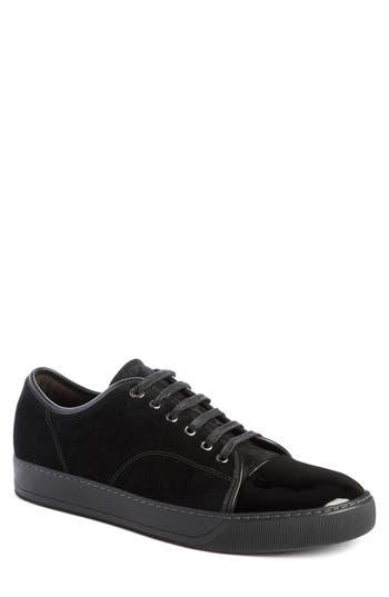 Lanvin Low Top Suede Sneaker