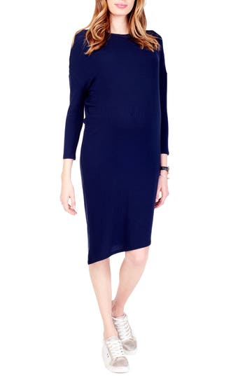 Ingrid & Isabel Asymmetrical Maternity Dress, Blue
