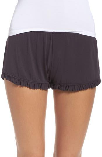 Women's Olympia Theodora Bae Ruffle Lounge Shorts, Size X-Small - Grey